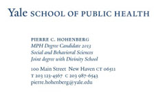 school of public health student yale blue on cool white stock price 25025 50031 - Student Business Card