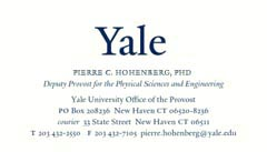Business Cards Yale Printing Publishing Services